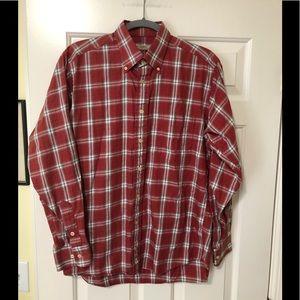 Burberry London Designer red plaid shirt M